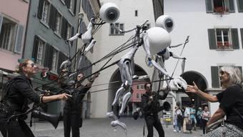 i-Puppets am letztjährigen 13. Figura Theaterfestival 2018. Dem Badener Anlass wird dieses Jahr Geld vom Kanton zugesprochen.