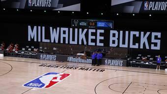 Protest gegen Rassismus: Die Mannschaft der Milwaukee Bucks trat am Mittwochabend nicht zur Playoff-Partie bei den Orlando Magic an
