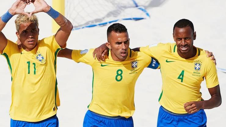 Brasilien gewann auf den Bahamas alle seine sechs Partien und holte den ersten WM-Titel im Beach Soccer seit 2009