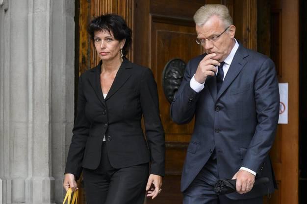 Bundesrätin Doris Leuthard und Swisscom-Verwaltungsratspräsident Hansueli Loosli