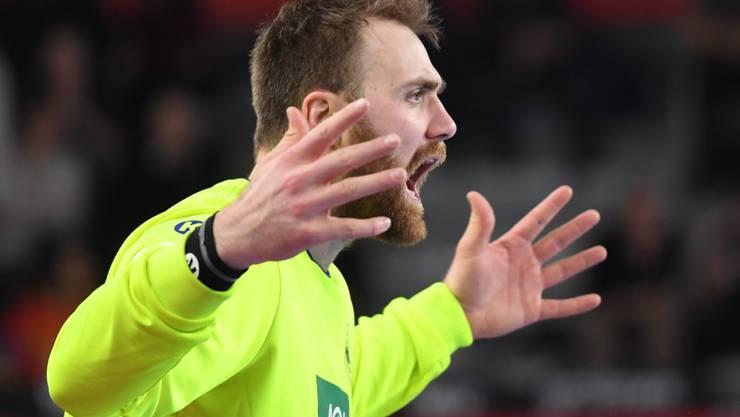 Der Deutsche Goalie Andreas Wolff konnte nicht fassen, wie schwach sein Team im entscheidenden Spiel gegen Spanien auftrat
