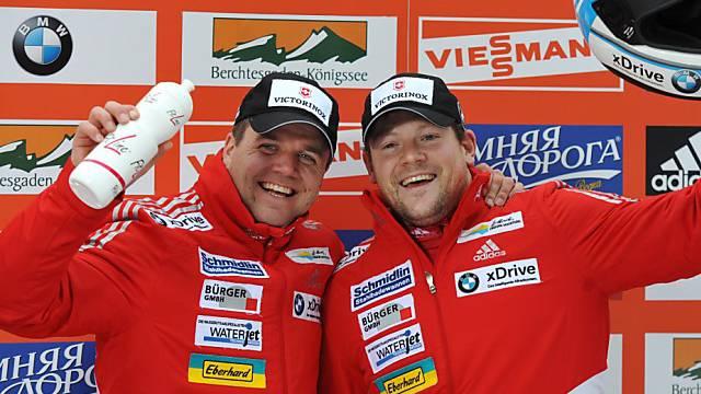 Hefti (links) und Lamparter mussten sich mit Rang 2 begnügen