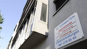 Zu vermieten: Die Vermieter sind zufrieden mit dem Basler Wohnungsmarkt.