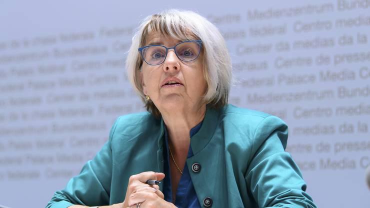 Elisabeth Baume-Schneider (SP/JU) muss für ein paar Tage in Quarantäne.
