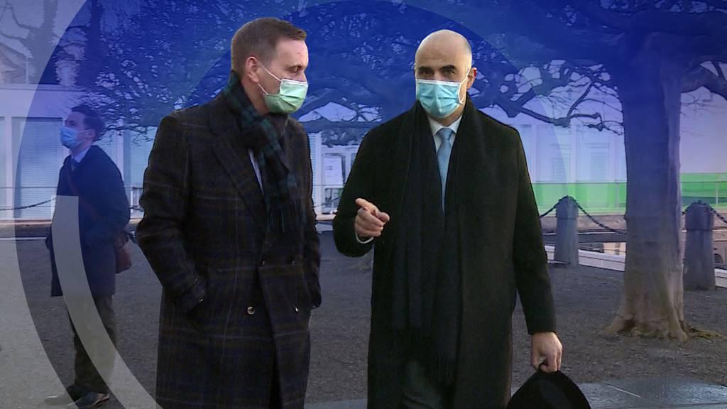 Hoher Besuch: Das sagt Bundesrat Alain Berset zur Aargauer Corona-Strategie
