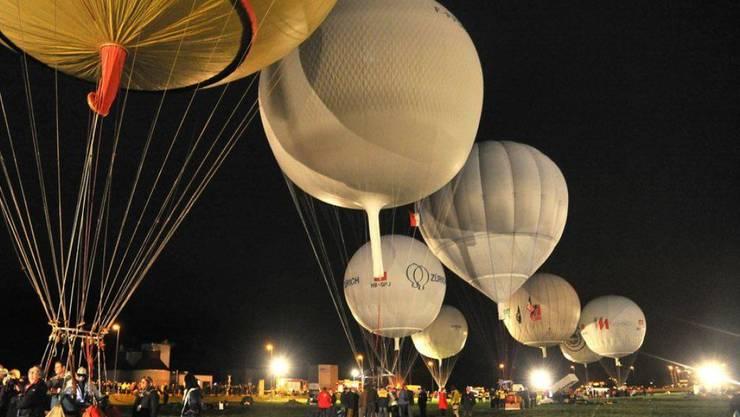 Der Start zum Gasballonrennen Gordon Bennet 2012 in Ebnat-Kappel. (Archivbild)