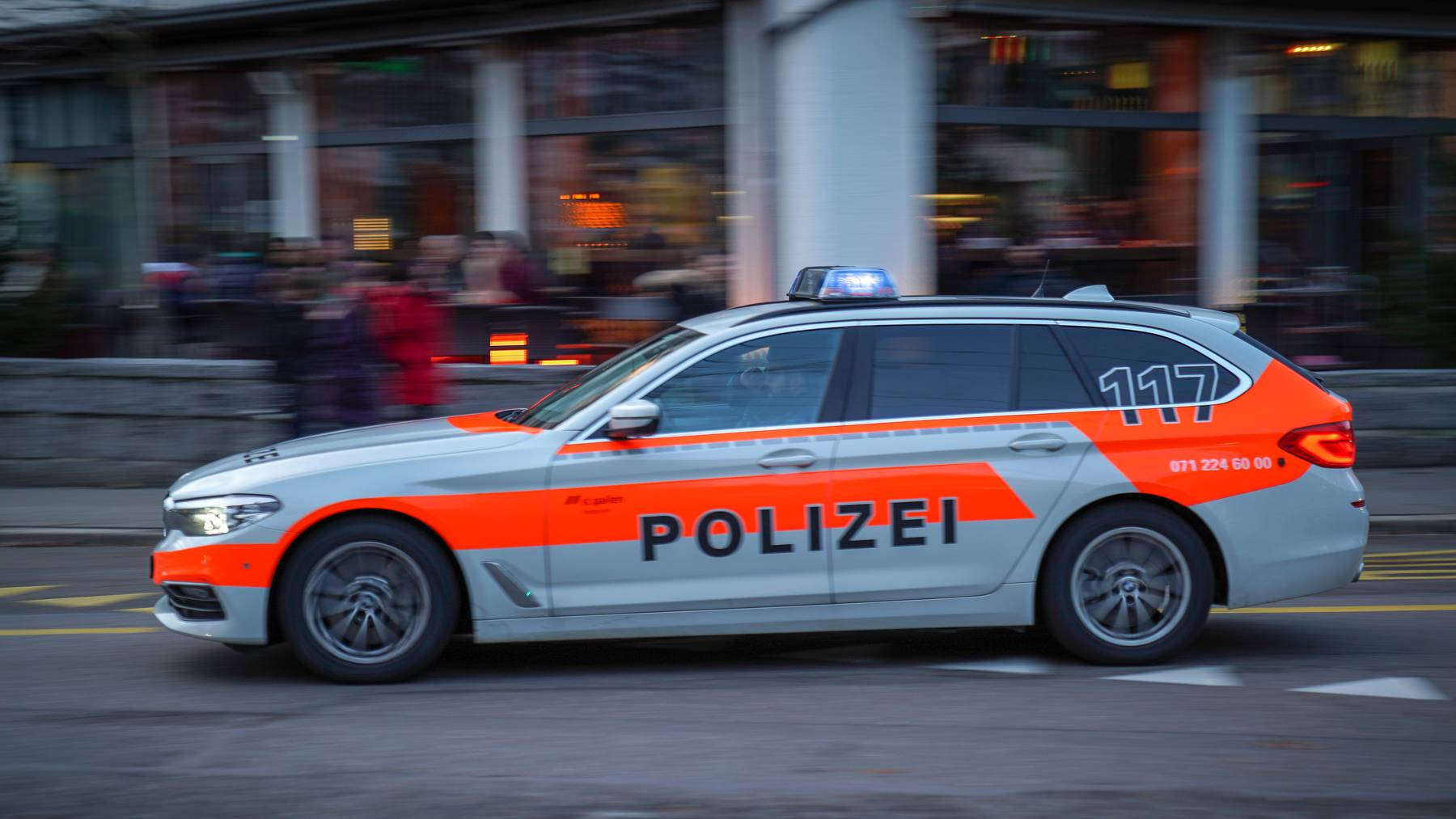 Die Stadtpolizei konnte den Mercedes stoppen.
