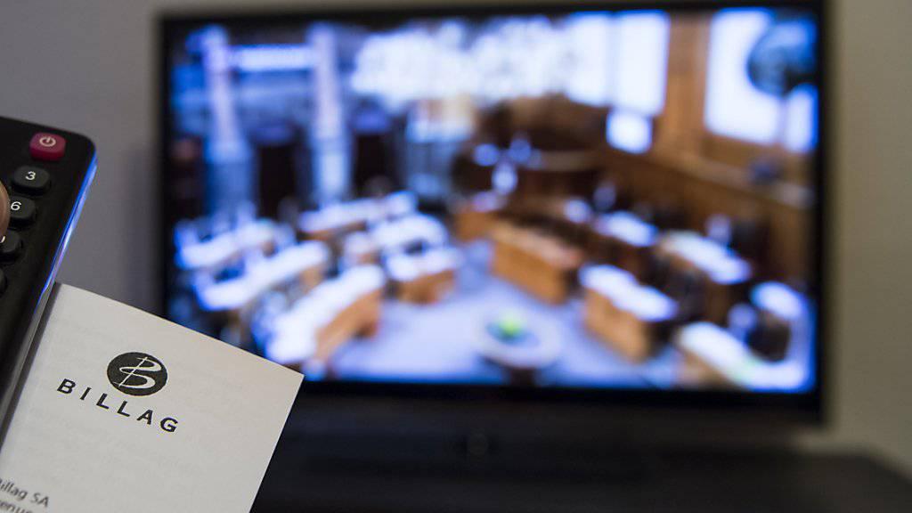 Die Gewerbekammer, das Parlament des Schweizerischen Gewerbeverbandes, hat ein Ja zur No-Billag-Initiative beschlossen. (Themenbild)
