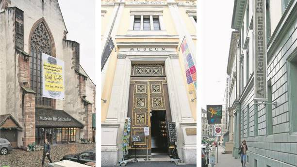 Betroffen sind das Antikenmuseum Basel und Sammlung Ludwig, das Historisches Museum Basel, das Kunstmuseum Basel, das Museum der Kulturen Basel und Naturhistorisches Museum Basel.