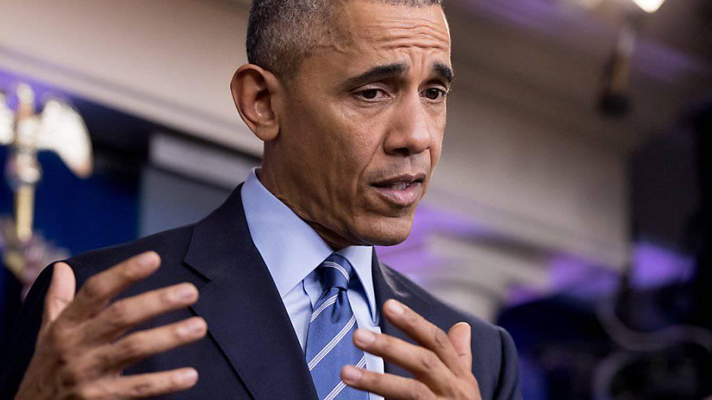 """""""Für diese Brutalität verantwortlich"""": US-Präsident Barack Obama bezichtigt Assad und dessen Verbündete der Gräueltaten in Syrien."""