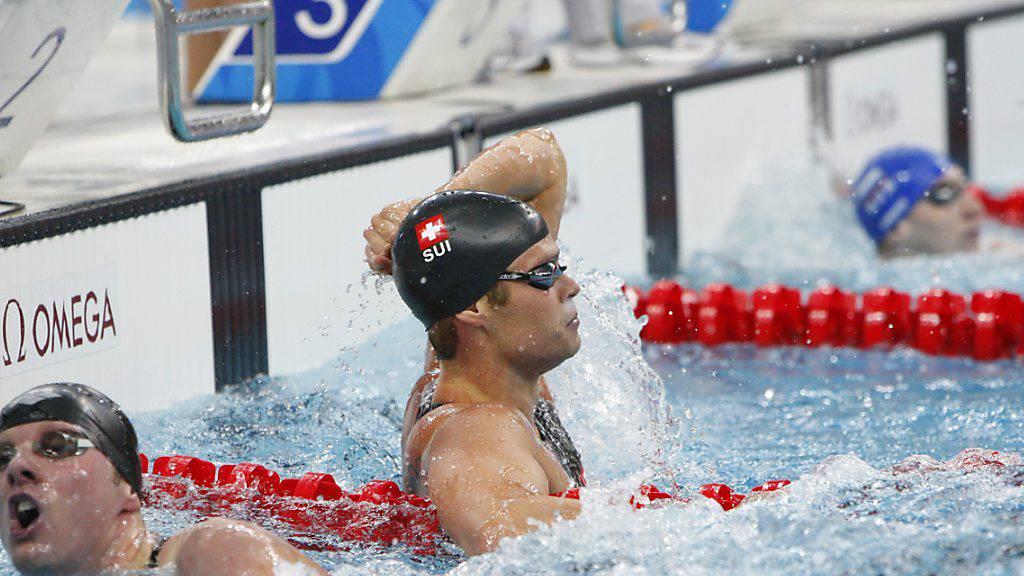 Dominik Meichtry trumpfte im Vorlauf an den Olympischen Spielen in Peking 2008 gross auf und überraschte die Schwimmwelt