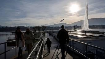 Die Touristenattraktion Jet d'eau wird vorerst ausser Betrieb genommen.