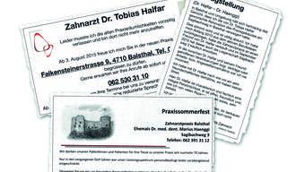 Auf die eine Aussage per Inserat folgte die nächste, wie die Ausrisse aus dem Anzeiger Thal Gäu Olten zeigen.