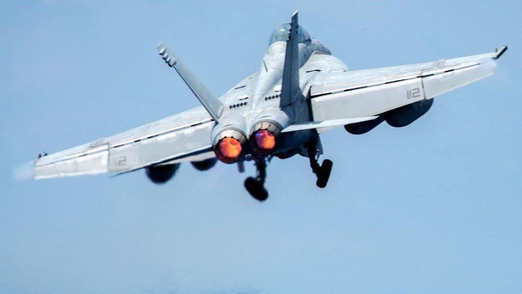 Eine F/A-18E wie auf dem Bild schoss den syrischen Kampfjet ab. (Archiv)
