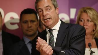 Nigel Farage, der Chef der UK Independence Party (Archivbild)