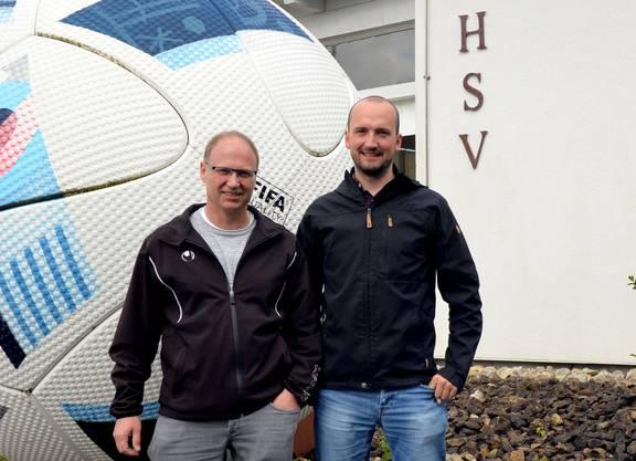 HSV-Präsident Benno Schläfli (links) und OK-Präsident Fabian Wüthrich.