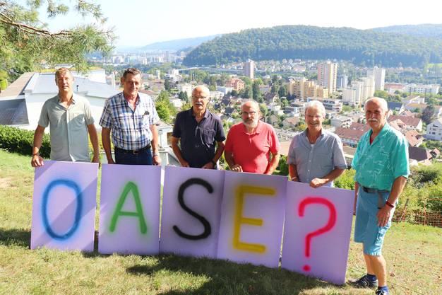 Die Gruppierung wehrt sich gegen die Verkehrspläne im Siggenthal. Hinten links auf dem Foto: Die Stadt Baden.