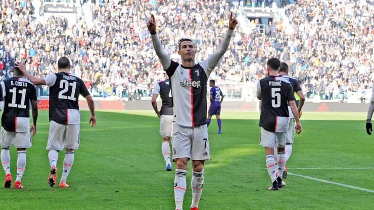 Ein Spieler, zwei Tore: Cristiano Ronaldo trifft gegen Fiorentina zwei Mal vom Punkt