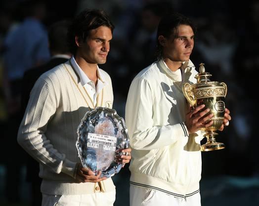 Am 6. Juli 2008 besiegte Rafael Nadal Roger Federer im dritten Anlauf erstmals in einem Wimbledon-Final.