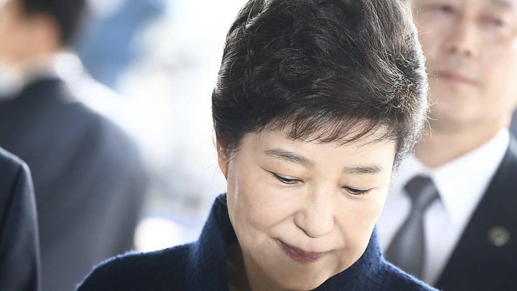 Gegen sie wurde ein Haftbefehl erlassen: Südkoreas ehemalige Präsidentin Park Geun Hye. (Archiv)