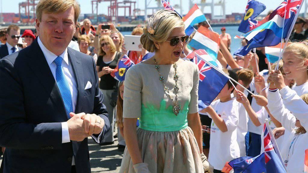 Das niederländische Königspaar Willem-Alexander und Máxima werden in Australien herzlich empfangen.