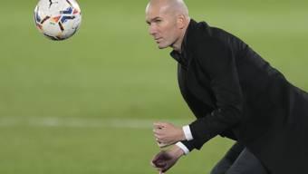 Real Madrids Coach Zinédine Zidane kann mit seiner Mannschaft nicht zufrieden sein