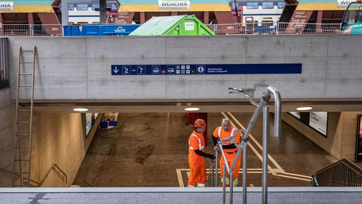 Blick in die neue Bahnhofs-Unterführung: Mit 12.5 Metern Breite ist sie auf weiter steigende Passagierzahlen in Zürich-Altstetten angelegt.