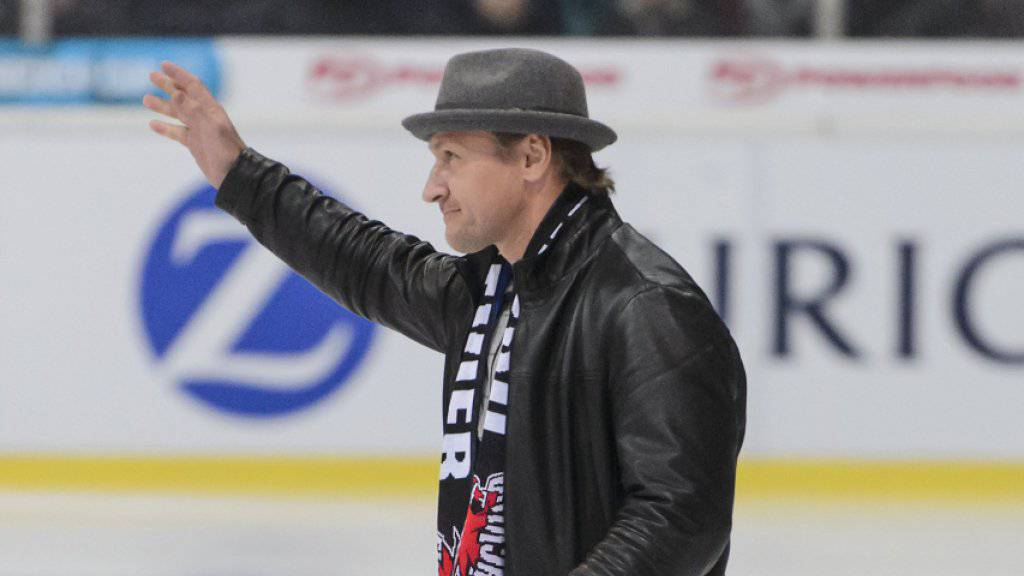 Kurz-Comeback: Alexej Kowalew wagt sich in Visp noch einmal aufs Eis