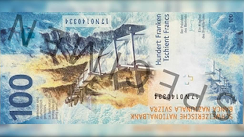 Wasser, Hand und Globus: Das ist die neue 100er-Note