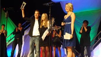 Freude beim Siegerduo  Daniela und Michael Heiniger aus Menziken am Gipf-Oberfricker Song-Contest. – Foto: pst