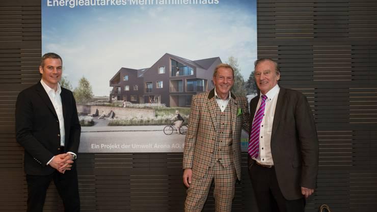 In der Umweltarena Spreitenbach wird das erste enegieautarke Haus der Welt vorgestellt.