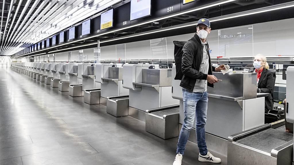 Flughafen Zürich im Januar mit tiefen Passagierzahlen