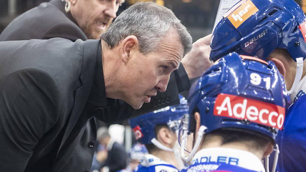 Für ZSC-Trainer Serge Aubin könnte es eng werden