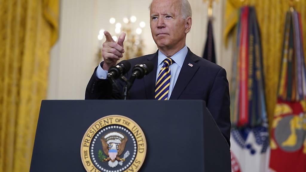 Biden verteidigt Afghanistan-Abzug - US-Einsatz endet am 31. August