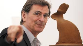 Der Schweizer Gegenwartskünstler Markus Raetz war ein Meister im Spiel mit der Wahrnehmung. Jetzt ist er fast 79-jährig gestorben. (Archivbild)