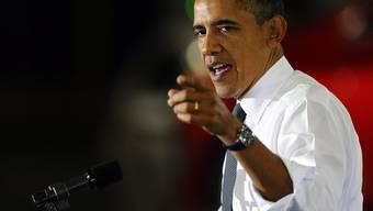 US-Präsident Obama kann sich über ein geringeres Defizit freuen (Archiv)