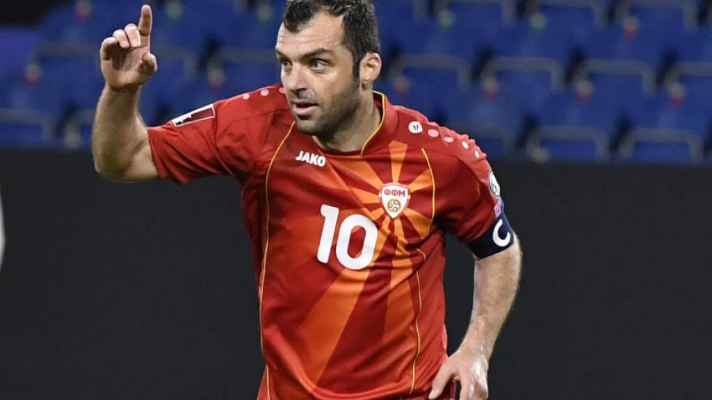 Auf Goran Pandev lasten fast sämtliche Erwartungen der kleinsten, an der EM vertretenen Fussballnation, Nordmazedonien
