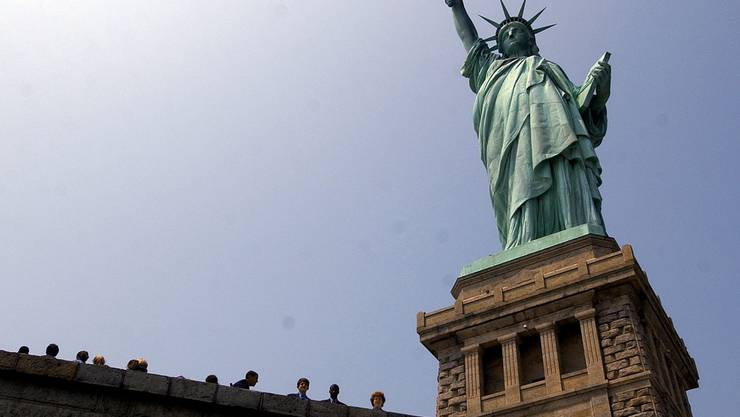 Die Freiheitsstatue wird den New-York-Touristen wieder zugänglich gemacht