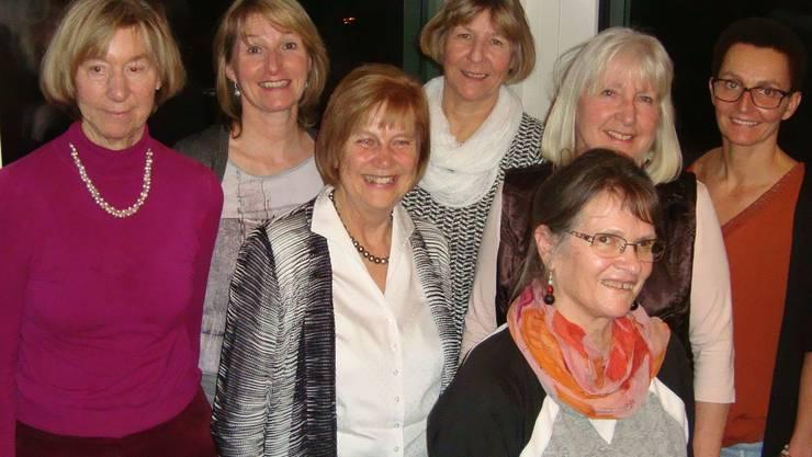 Das Leiterteam vlnr. Silvia Grütter, Melitta Hauert, Dori Spielmann, Liselotte Balz, Monique Bonetti, Ingrid Heimgartner, Manuela Baselgia.