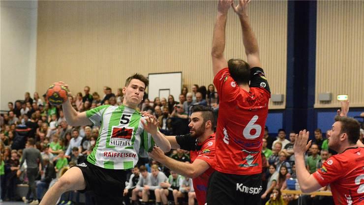 Oltens Manuel Zehnder war im Hinspiel gegen Kreuzlingen fünfmal erfolgreich.