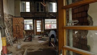Einblick und Durchblick in die Baustellen: Baustelle ehem. Restaurant Bieltor