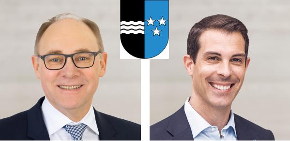 Aargau Knecht Hansjörg (SVP, 73'692 Stimmen, links im Bild) Burkart Thierry (FDP, 99'372 Stimmen, rechts im Bild)