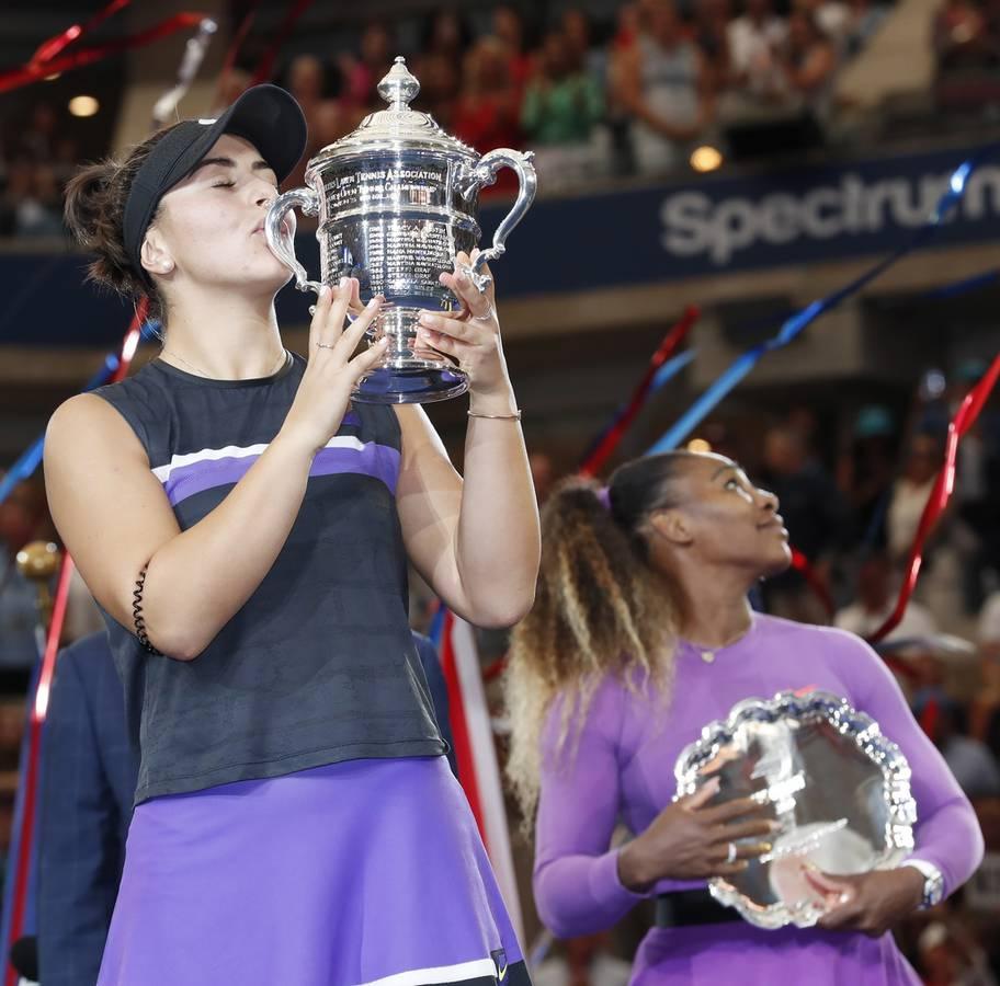Bianca Andreescu (19) gewinnt als erster Teenager seit Maria Scharapowa am US Open 2006 ein Grand-Slam-Turnier. (© Keystone)