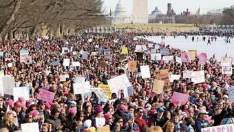 Die Wut ist pink und sie geht nicht mehr weg: Women's March in Washington als Antwort auf Präsident Donald Trump, ein Jahr nach seiner Amtseinsetzung.
