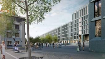 Visualisierung Zürcher Polizei- und Justizzentrum.