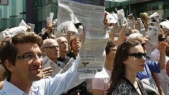 Protest gegen Stellenabbau