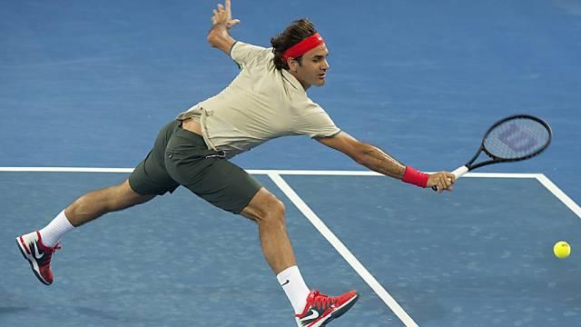 Roger Federer startete auch im Einzel in die neue Saison