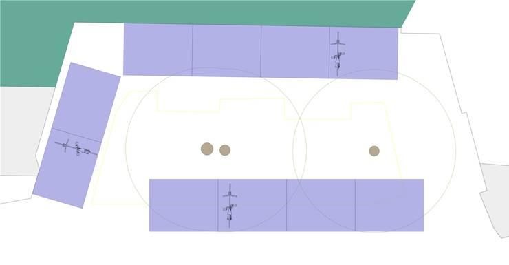 So stellt sich die SP die doppelstöckigen Veloständer auf dem Känzeli oberhalb der Bahnhofterrasse vor. Der grüne Bereich symbolisiert die Aare.
