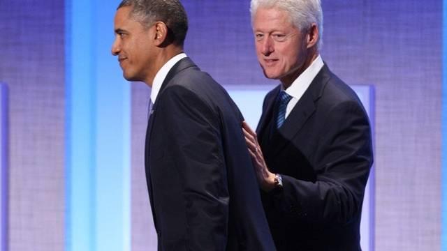 Obama und Clinton, der amtierende und der ehemalige US-Präsident