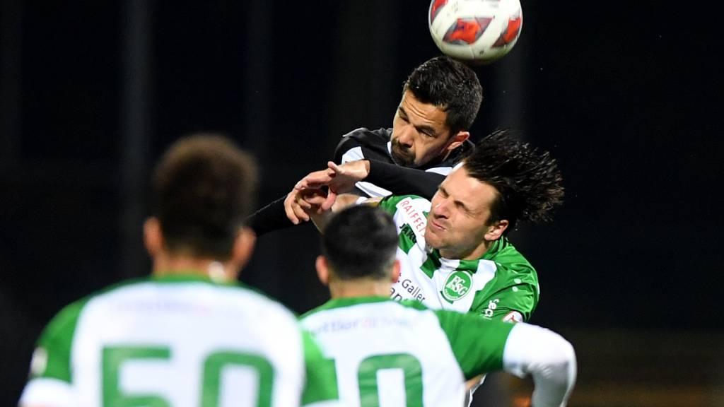 Lukas Görtler und der FC St. Gallen ziehen im Tessin einen schmerzhaften Abend ein